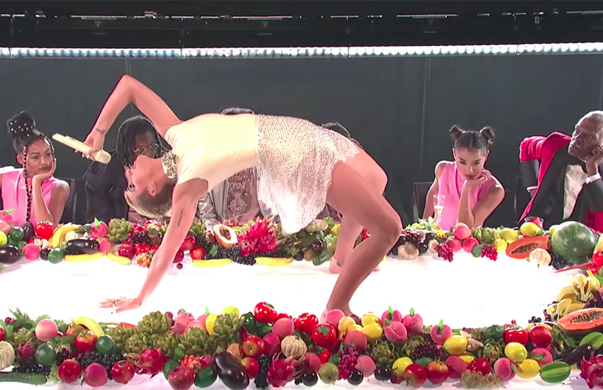 Katy Perry performed Bon Appétit on Saturday Night Live