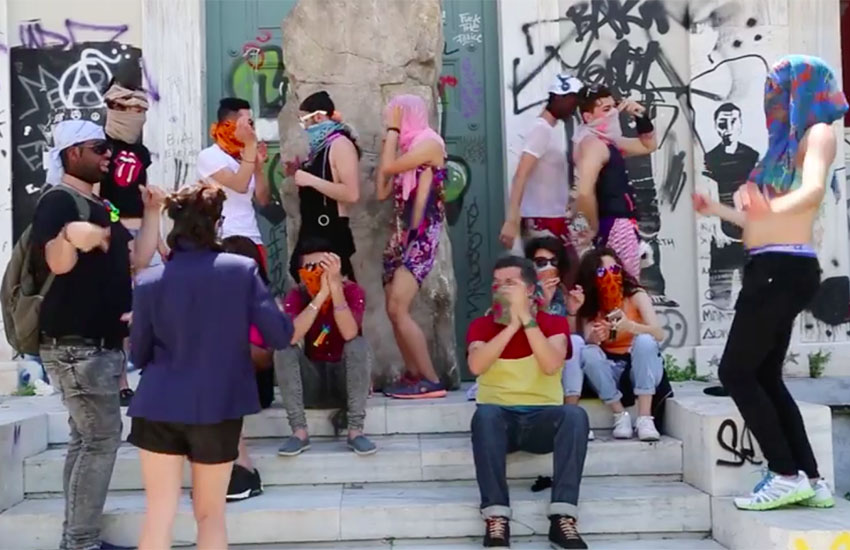 LGBTIQ+ Refugees in Greece stole a piece of art at the documenta14 festival