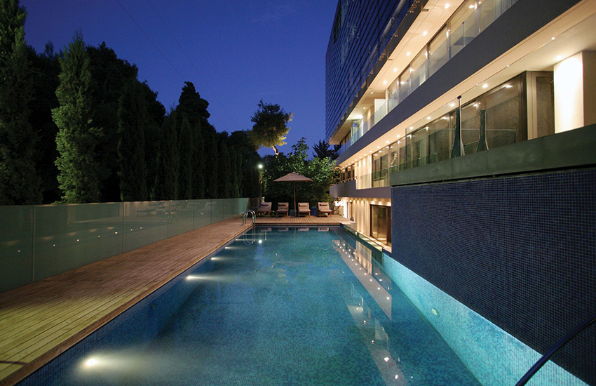 The gorgeous Life Gallery Hotel swimming pool