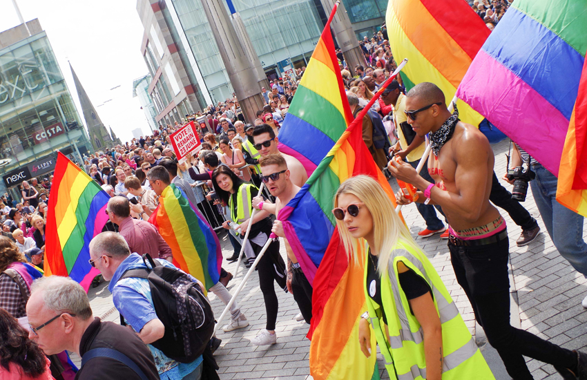 Marchers at last year's Birmingham Pride
