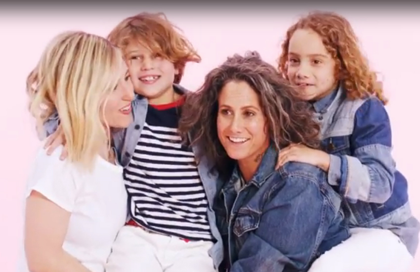 Ali and Cass Bird plus their kids star in Gap's new campaign vid