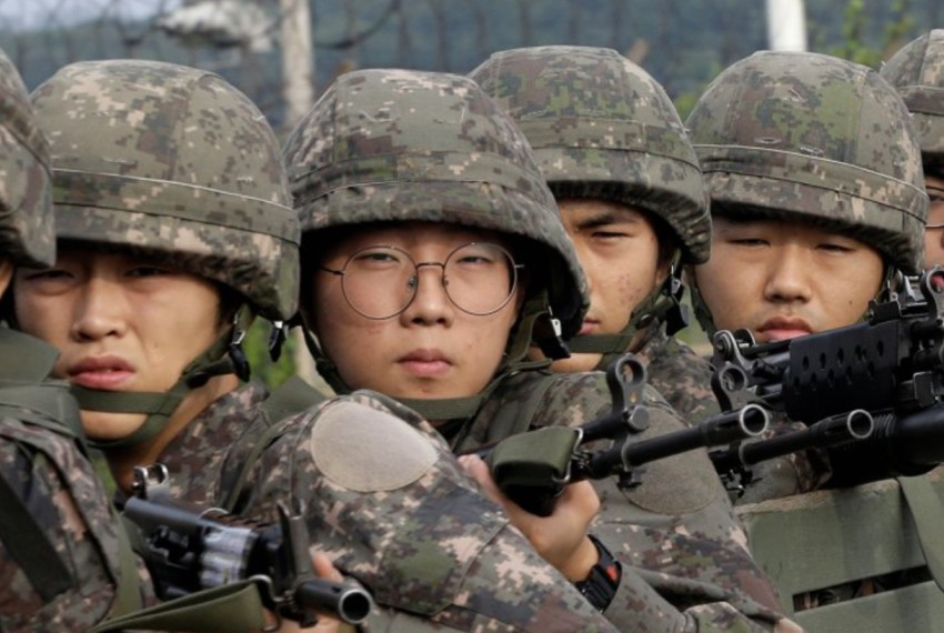 South Korean soldiers. Photo: Twitter