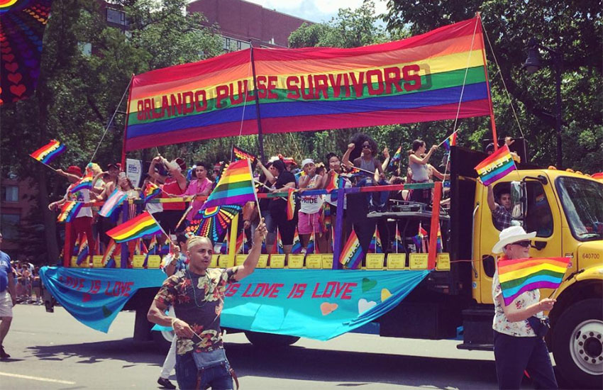 29 Pulse survivors had their own float at Boston Pride