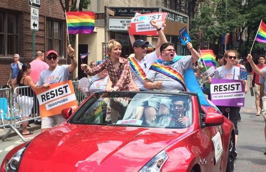 Chelsea Manning at New York City Pride