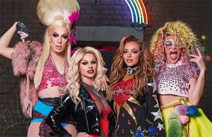 Alaska, Courtney Act, and Willam joined Little Mix for their new music video