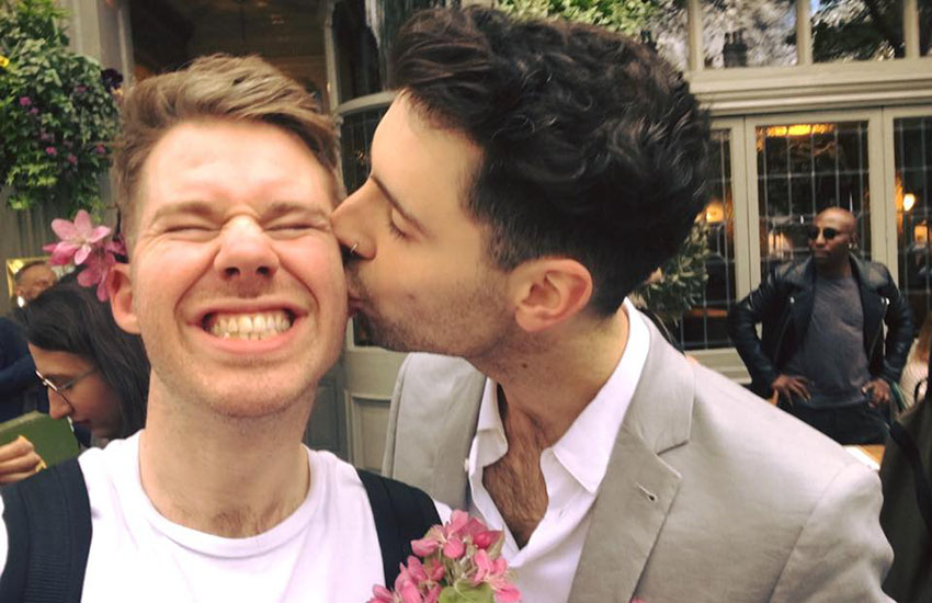 This young gay couple will be live-streaming their wedding