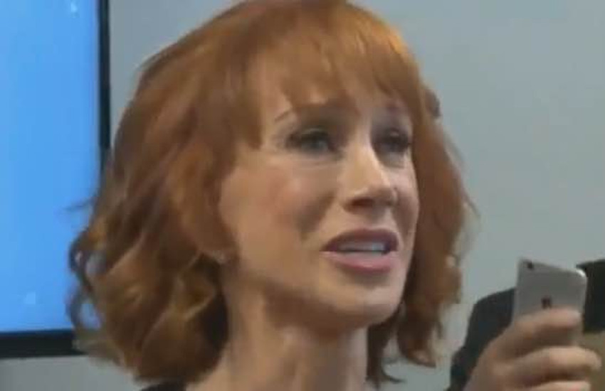 Kathy Griffin at press conference addressing Trump photo controversy