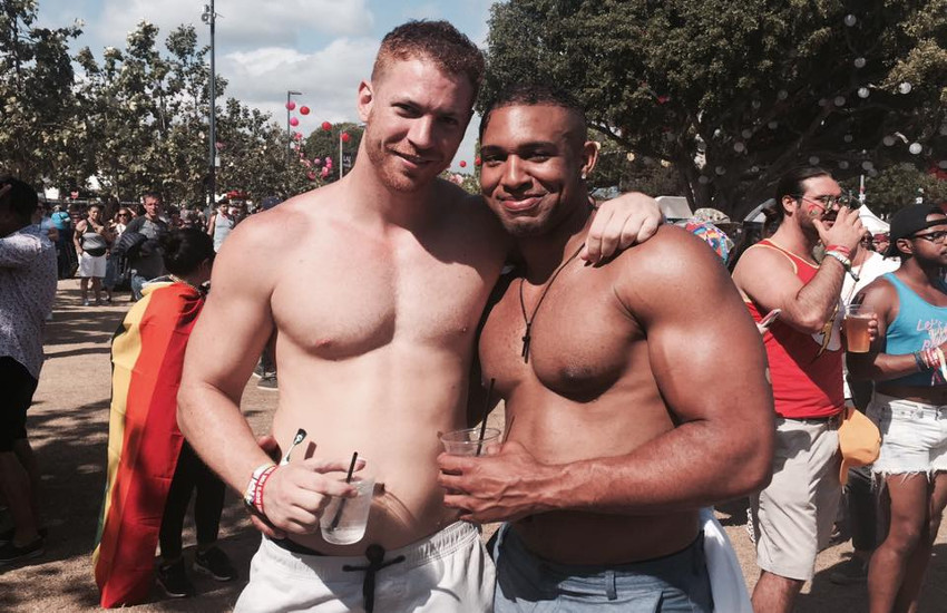 Some shirts came off at the three-day LA Pride Festival in West Hollywood