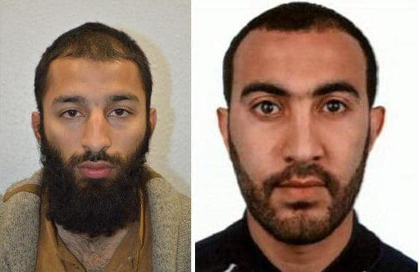 These are two men who attacked London Bridge