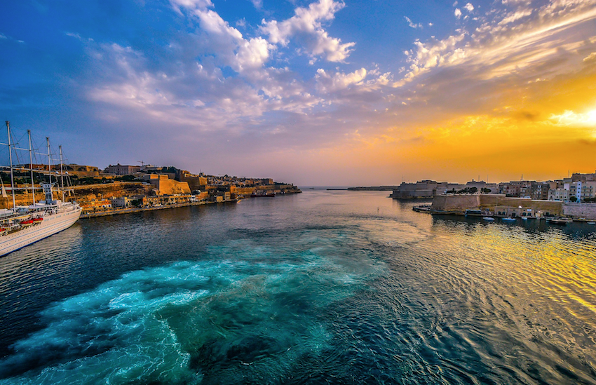 The beautiful Malta measures in at a tiny 122 miles squared
