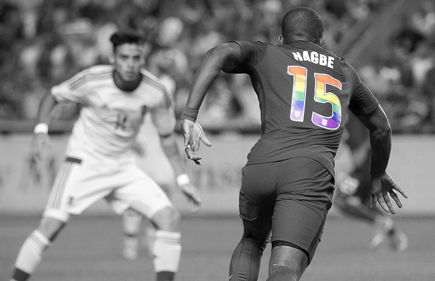 The US soccer team will wear rainbow numbers to mark Pride month