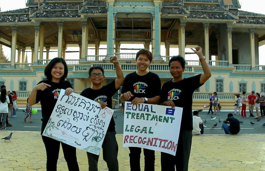 Protestors in Cambodia calling for better LGBTIQ righs