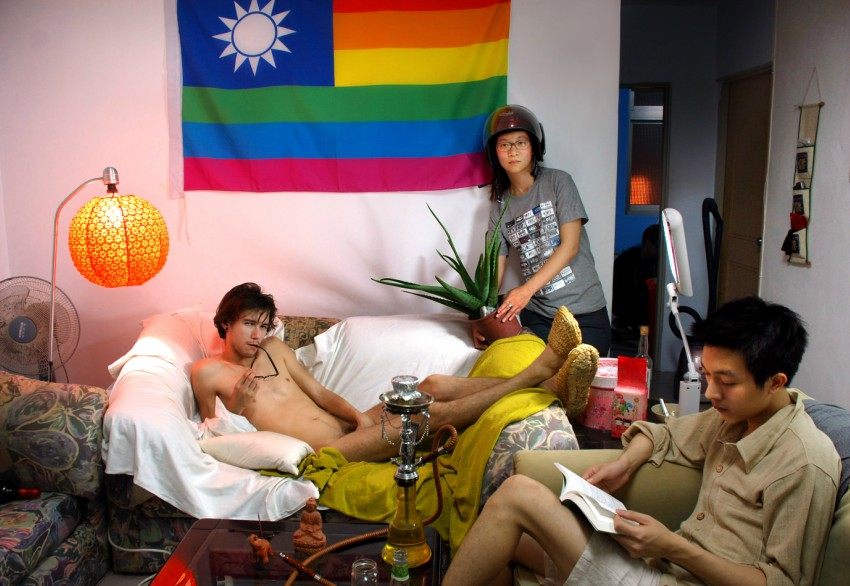 One of the art pieces in Spectrosynthesis at Moca Taipei, the first LGBTI themed exhibition at a government run exhibition.