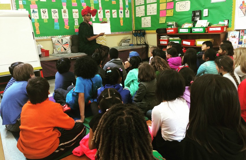 Drag Race alum Honey Mahogany reads to children at an event in the US. Hong Kong will host its first Story Time with the Queens in June. Photo: Drag Queen Story Hour