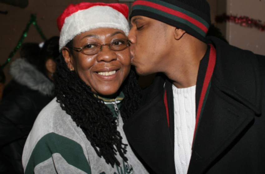 Gloria Carter with her son Jay-Z