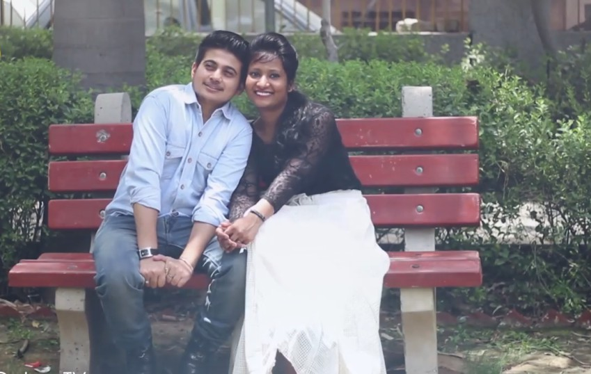 Rajveer and his high school sweetheart in India. Photo: YouTube/The Quint