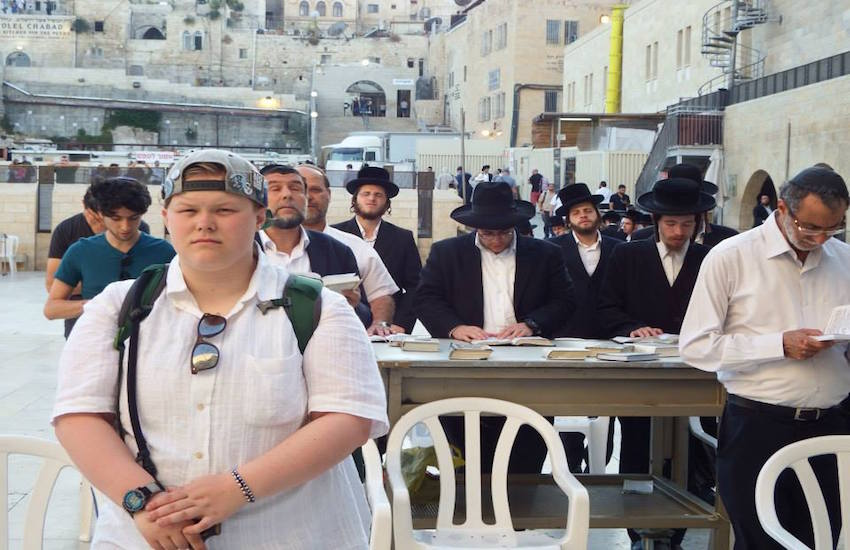 Ariel Lipson at the Western Wall