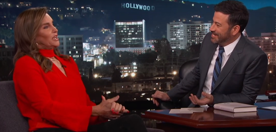 Caitlyn Jenner with Jimmy Kimmel