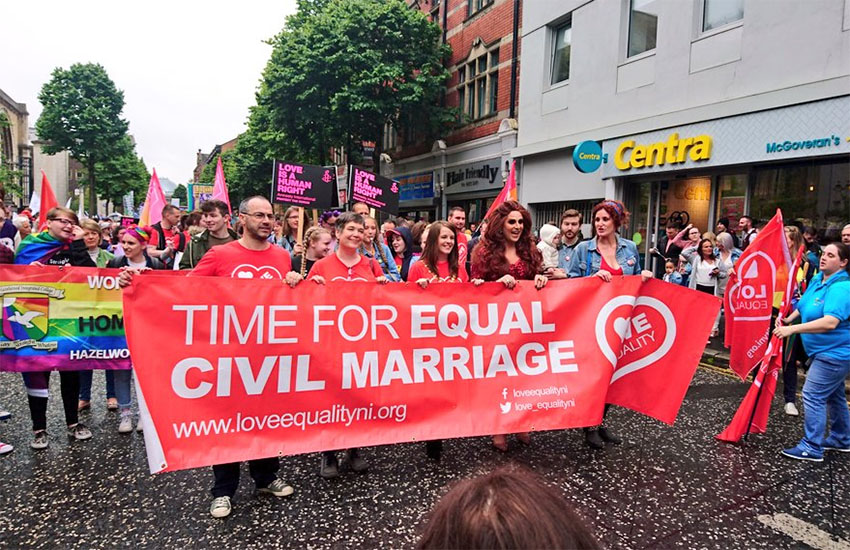 Thousands marched for same-sex marriage in Belfast, Northern Ireland