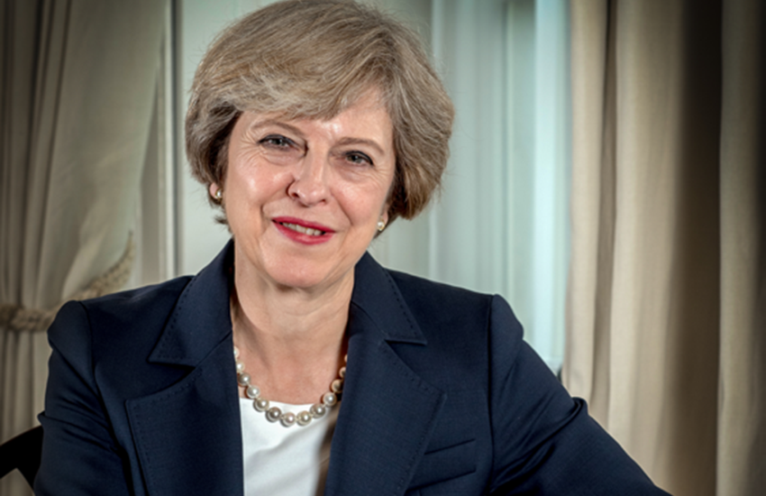 UK Prime Minister Theresa May.