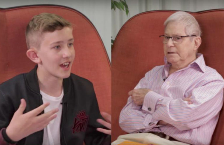 78-year-old Gay Man Sits Down With A Young Gay Boy For An