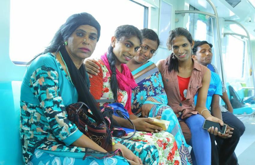 Some of the trans women hired at Kochi Metro Rail. Photo: Facebook/Queerala