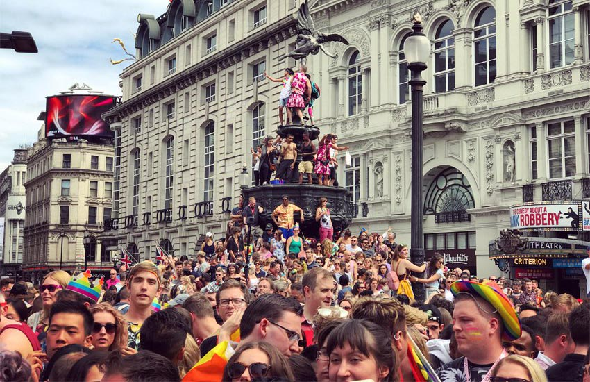 Pride in London: One couple has gathered LGBTI data from around the world to get to know the crowds better.