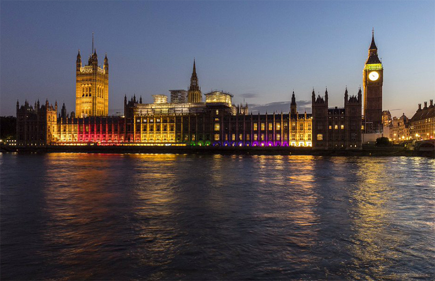 The Palace of Westminster will be bathed in rainbow light this weekend