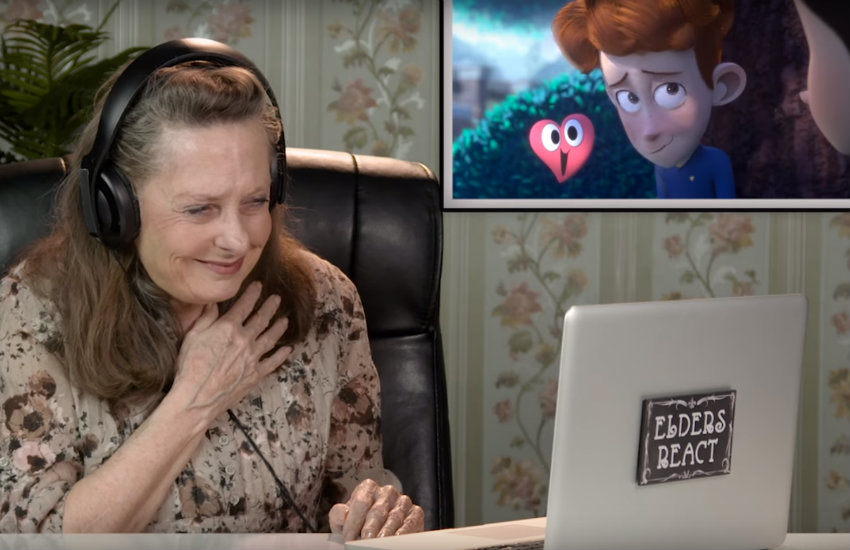 Elders watch and react to the short film In a Heartbeat