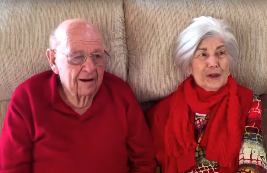 Grandfather proposes for granddaughter in sweet video