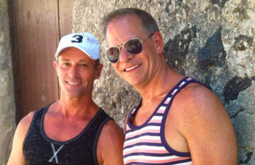 Ron Gage and Henry McKinnon looking cute on holiday