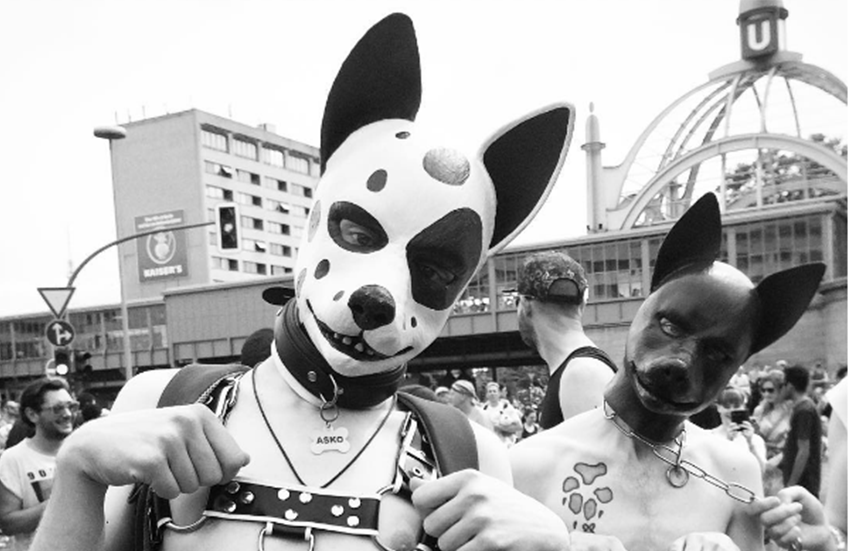 Gay 'pups' at Christopher Street Day Berlin - leather puppies