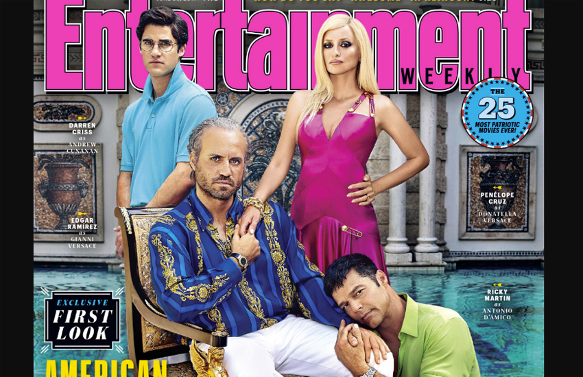 Ricky Martin with the cast of American Crime Story