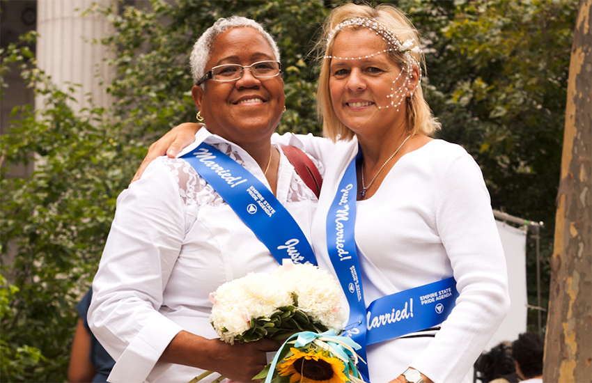 A same-sex wedding in New York City in 2011