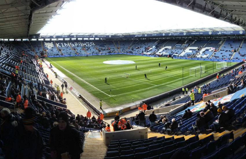 King Power Stadium, where the arrests took place