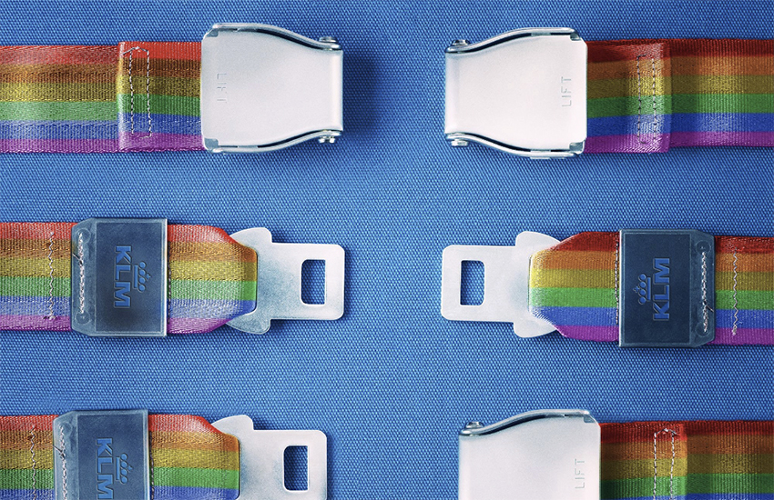 KLM posted in support of Amsterdam Pride