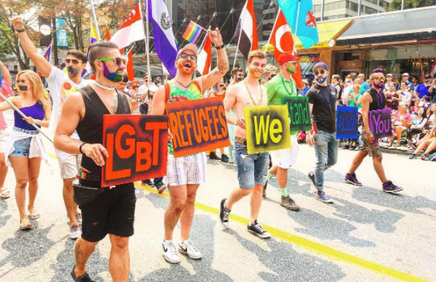 Attendees were vocal about their support for LGBT refugees