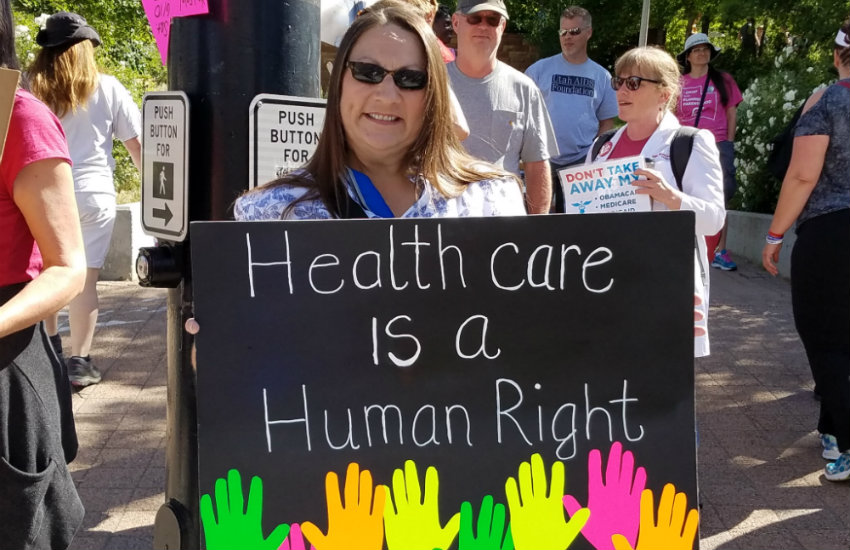 People are protesting the new Republican healthcare bill