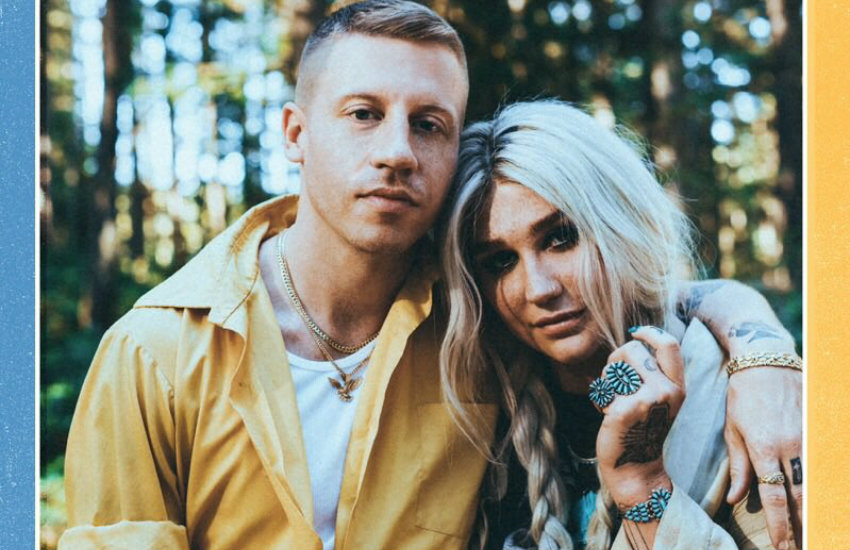 Macklemore and Kesha promoting their new song