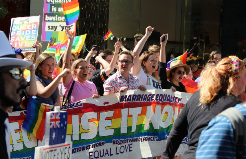Rally for marriage equality in Sydney