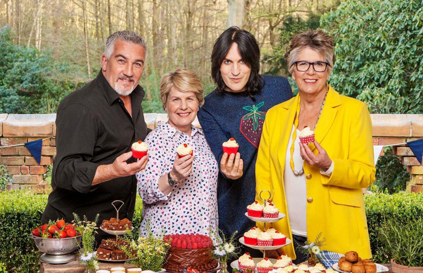 The stars of the Great British Bake Off