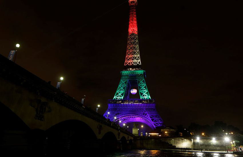 Paris, France pays tribute to Orlando after terror attack