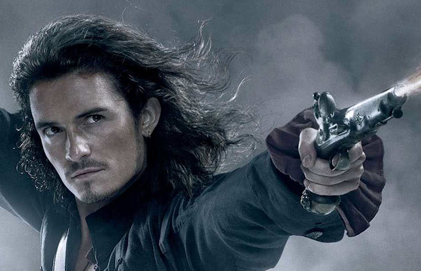 Orlando Bloom in Pirates of the Caribbean.