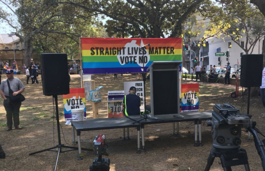 Straight Lives Matter protest in Sydney