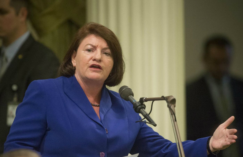 Sen. Toni Atkins, author of the bill to recognize a third gender