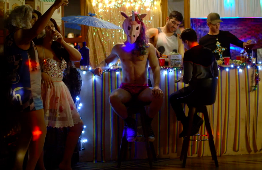 'A hot dude in a unicorn mask kills drag queens in Brooklyn'