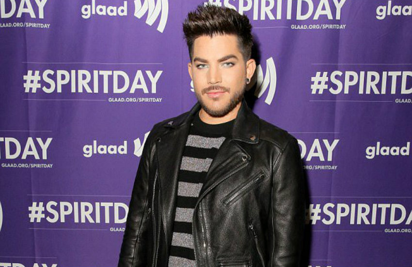 Adam Lambert celebrating Spirit Day