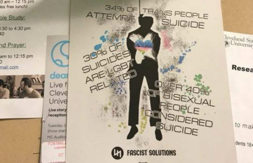 Hate flyer appeared on Cleveland State University campus