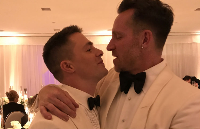 Colton Haynes and Jeff Leatham get married