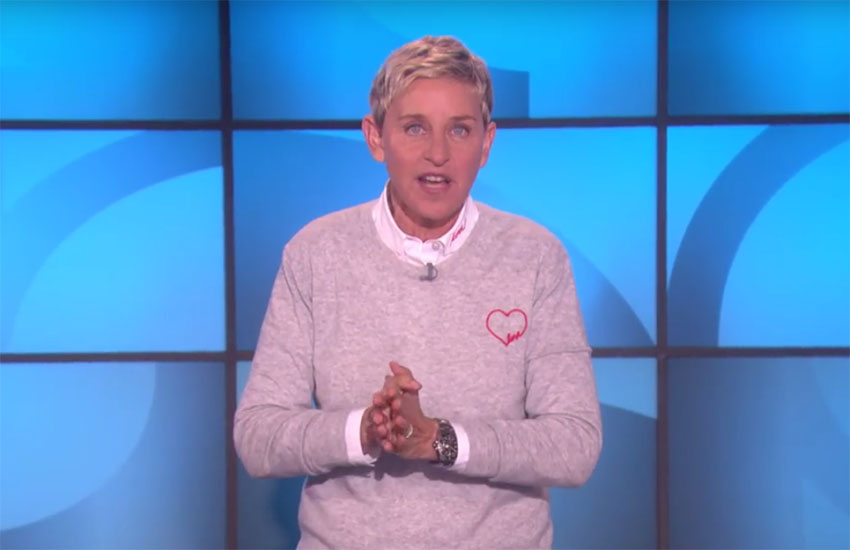 Ellen DeGeneres pays tribute to victims of Las Vegas massacre